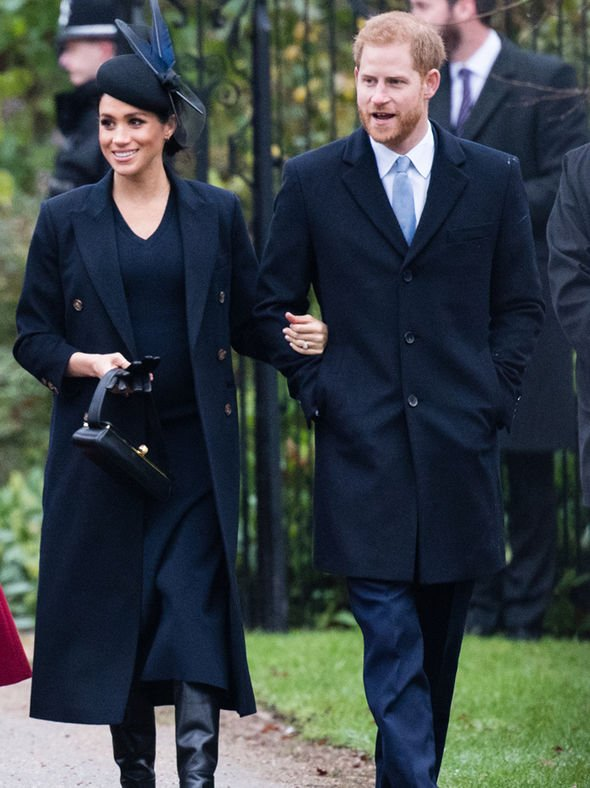 Meghan Markle is due in spring 2019 Image GETTY