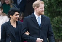 Meghan Markle and Prince Harry at Christmas 2018 Image Getty