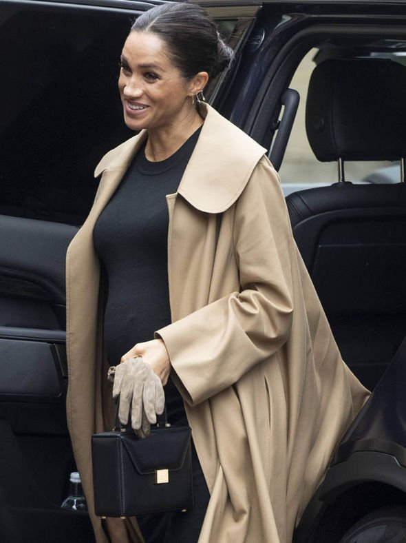 Meghan Markle arrived at Smart Works wearing a £3 000 outfit Image GETTY