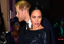 Meghan Markle dazzles in Roland Mouret as she arrives at the Royal Albert Hall with Prince Harry Photo C GETTY IMAGES