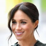 Meghan Markle during a visit to Sussex last year before she announced she was expecting Image GETTY