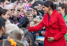 Meghan Markle greeted royal wellwishers Image GETTY
