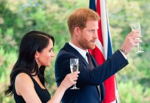 Meghan Markle has reportedly banned Prince Harry from drinking caffeine and booze Pictured The Duke and Duchess of Sussex toasting at a summer party in Dublin in July