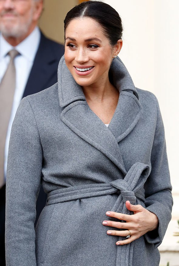 Meghan Markle is thought to be nearing her third trimester Image GETTY