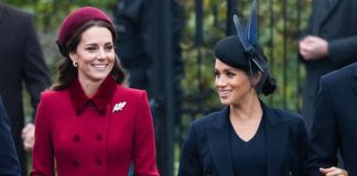 Meghan Markle news Meghan and Kate seemed to be in jovial spirits Image GETTY