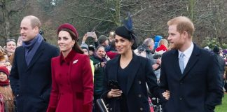 Meghan Markle news The so called Fab Four on their way to Church on Christmas day Image GETTY