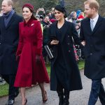 Meghan Markle news the so called Fab Four walking towards the Church at Sandringham at Christmas Image GETTY