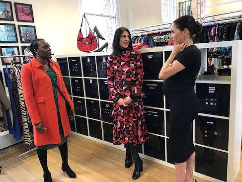 Meghan Markle turns stylist in first royal patronage visit Photo C HELLO 02