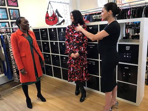 Meghan Markle turns stylist in first royal patronage visit Photo C HELLO