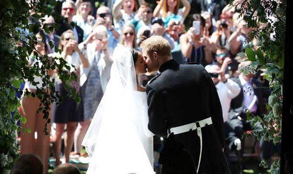Meghan Markle zodiac Meghan Markle and Prince Harry on their wedding day Image Getty