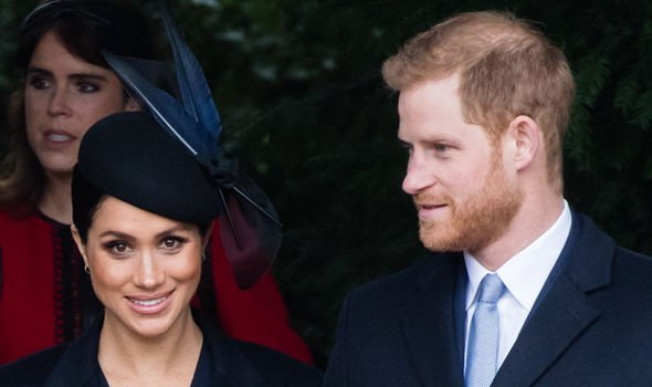 Meghan and Harry on Christmas Day Image GETTY