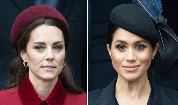 Meghan and Kate have faced claims of a royal rift Image GETTY