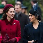 Meghan and Kate heading to church on Christmas Day Image GETTY