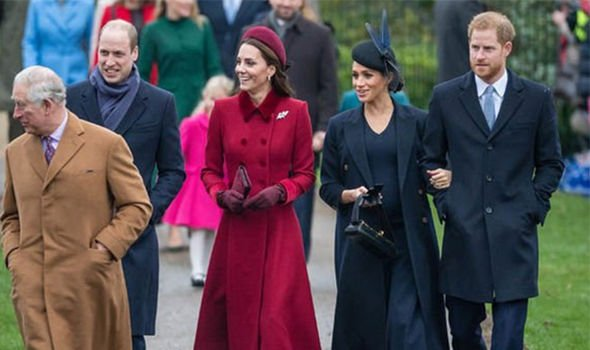 Meghan attended church with the Royals on Christmas Day Image Getty 01
