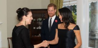 Meghan hosted Jacinda Ardern at Kensington Palace on Monday Photo C GETTY IMAGES