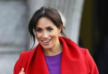 Meghan revealed her due date as she chatted to royal well wishers Image PA