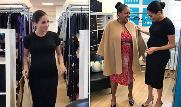 Meghan the stylist Duchess gives women the Markle sparkle on charity visit Image TWITTER
