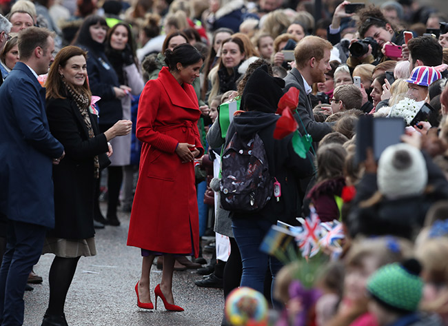 Meghan told fans she is due at the end of April or beginning of May Photo C PA