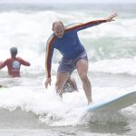 Mike Tindall really must try harder at surfing because while he was awarded an MBE by his in laws for his efforts on the rugby pitch he isn't a natural at all sports as my pictures show