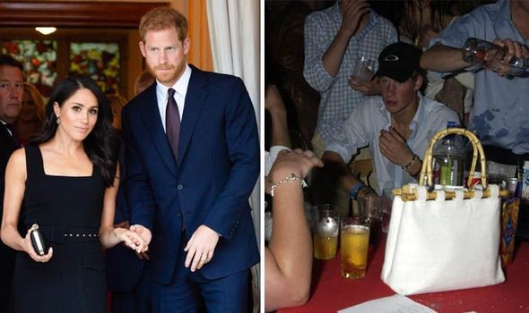 ON THE WAGON Harry and Meghan in July and the Prince at a party in 2004 Image WireImage Getty