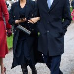On Christmas Day this year Meghan opted to wear a head to toe ensemble designed by her pal Victoria Beckham wearing a £1 250 V neck knitted