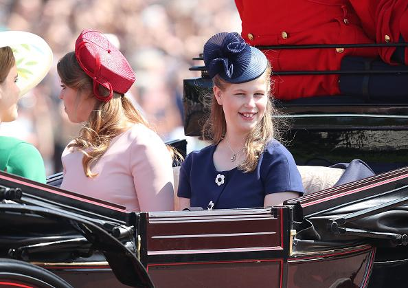 Pictured Lady Louise Windsor during Trooping The Colour on the Mall on June 9 2018 in London England Photo Getty Images Chris Jackson