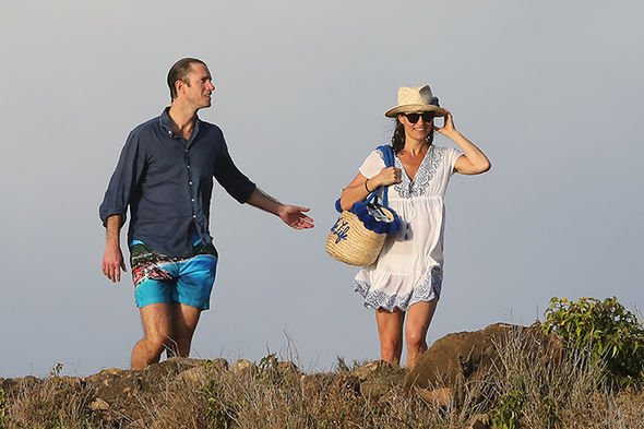 Pippa Middleton rang in the New Year on the Caribbean island Image SPLASH