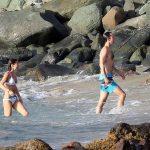 Pippa Middleton takes a dip with her husband James Image SPLASH