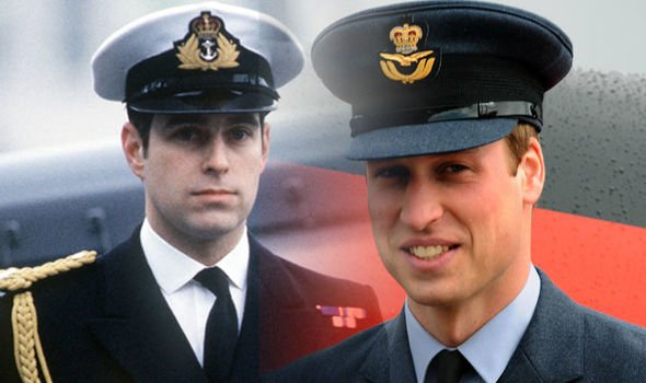 Prince Andrew and Prince William do share common interests they both had a military career Image Getty