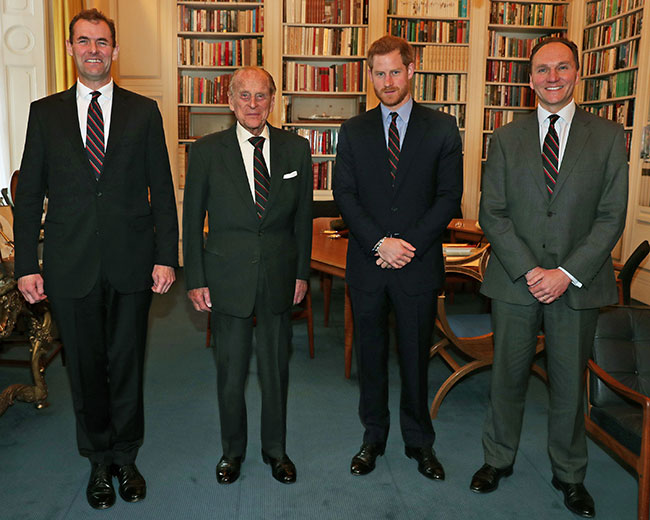 Prince Philip passes on the role of Captain General to Prince Harry Photo C GETTY IMAGES