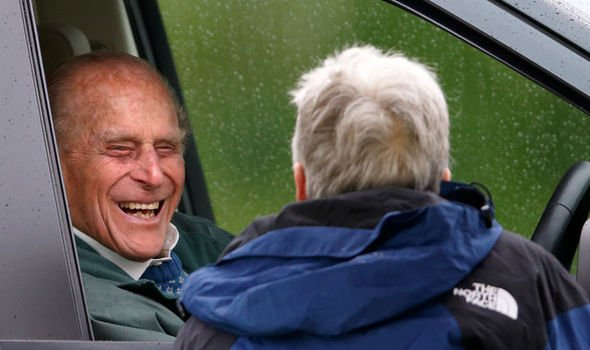 Prince Philip pictured behind the wheel in 2015 Image Getty