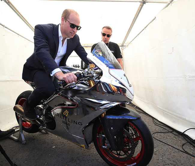 Prince William has a life long love for motorbikes Photo C PA