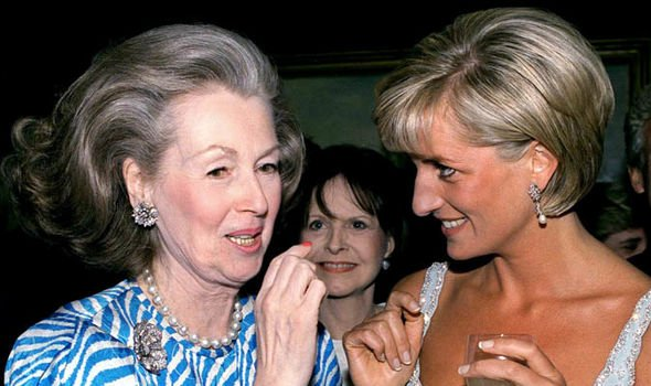 Princess Diana and her stepmother Raine Spencer Image GETTY