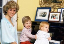 Princess Diana with a very young Prince William and Harry Image GETTY
