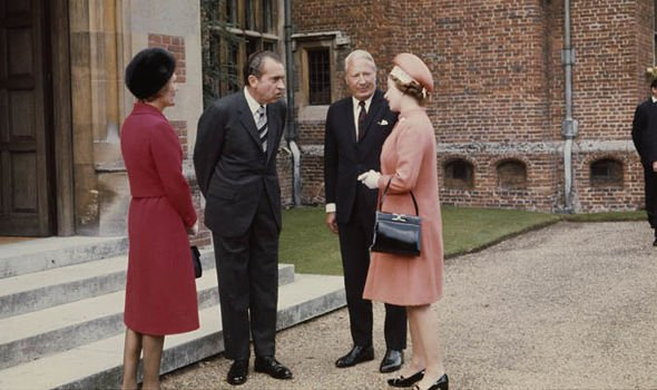 Queen Elizabeth II news The Queen had the bag when she met US President Nixon in 1970 Image GETTY