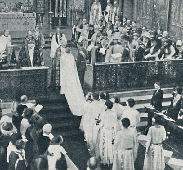 Queen Mother The wedding took place in Westminster Abbey on 26 April 1923 Image GETTY