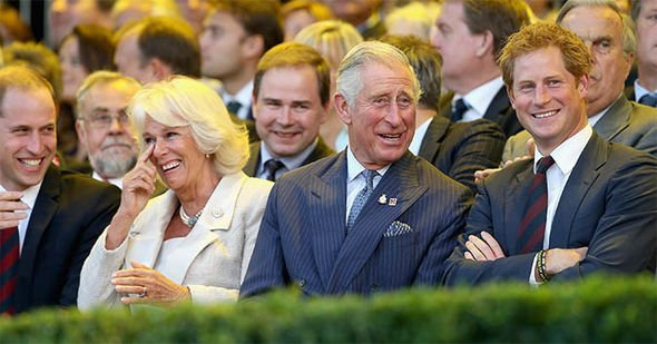 Royal news Camilla and Prince William and Harry and put on a united front Image GETTY
