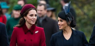The Duchess of Sussex and the Duchess of Cambridge appeared to be in good spirits at Christmas Image GETTY