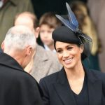 The Duchess of Sussex won admiration for her navy ensemble Image Getty