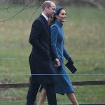 The Duke and Duchess were all smiles as they walked side by side towards the church Image PA