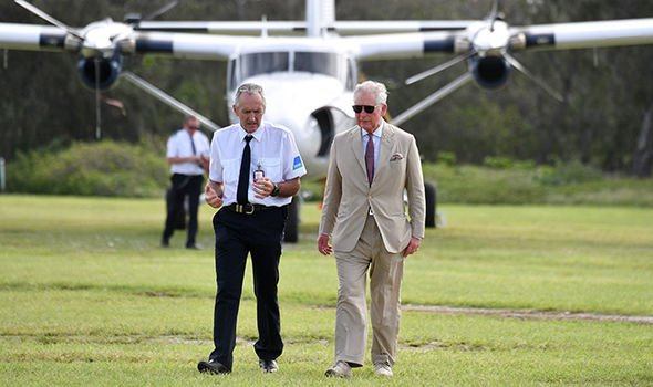 The Prince of Wales took 11 flights around Australia Image Getty