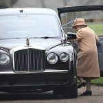 The Queen looked elegant in a tan wool coat with a fur trim and a matching hat Image PA