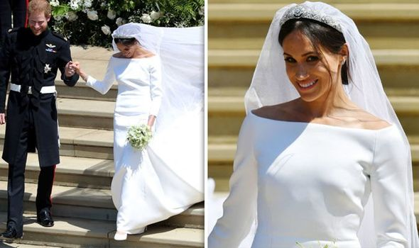 The duchess Givenchy pure white gown came in for criticism Image Getty