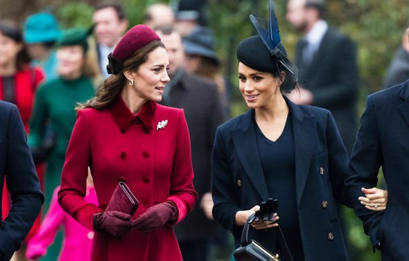 The duchesses appeared to get on well on Christmas Day Image GETTY