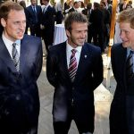 The princes chat with David Beckham at an FA reception in South Africa in 2010 Image Luca Ghidoni Pool Getty Images