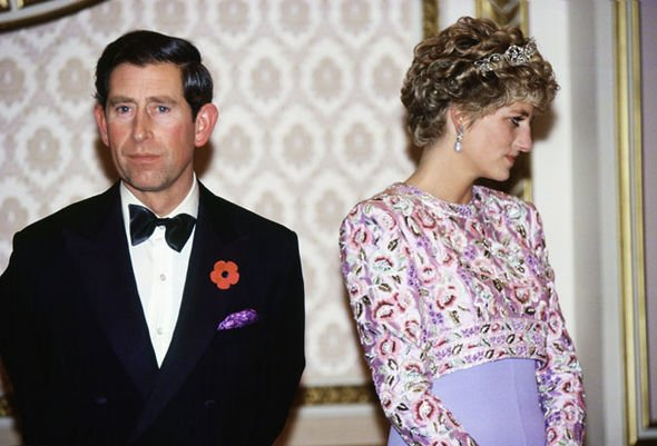 The royal couple refused to look at each other and did not smile at each other Image Getty