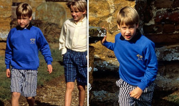 The young Prince William in 1989 Image Getty