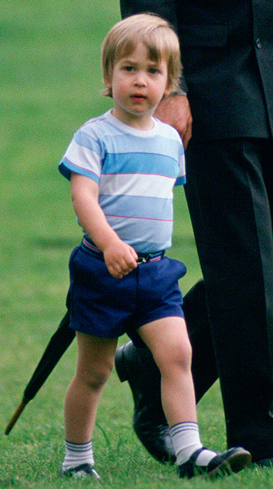 William as a two year old in the grounds of Kensington Palace Photo C GETTY IMAGES