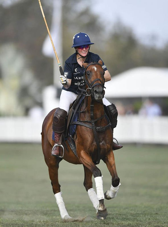 Zara plays polo at the Magic Millions Polo event on the Gold Coast Image PA