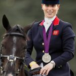 Zara won a silver medal as a member of the British Equestrian team in the London 2012 Olympics Image Getty